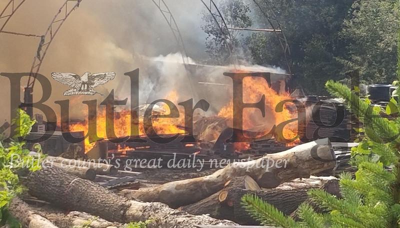 wood pile fire 1