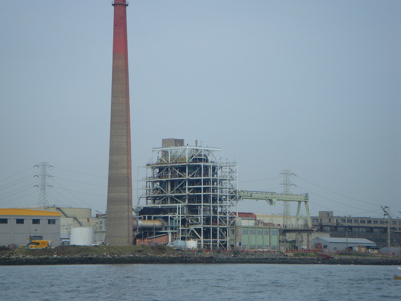 The soon-to-be-decommissioned power plant.