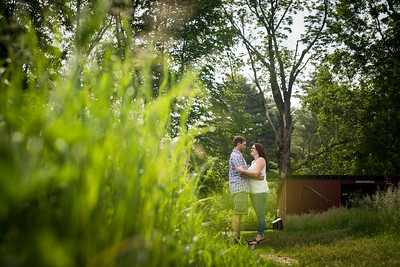 Nikki & Ryan's Engagement Session at Stonewall Farm in Keene, NH
