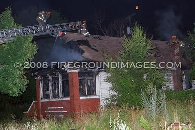 Sanders St. Fire (Detroit, MI) 7/28/07