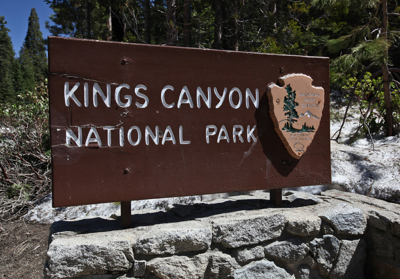 Kings Canyon National Park entrance sign