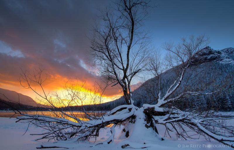 Sunset, Rattlesnake Lake
