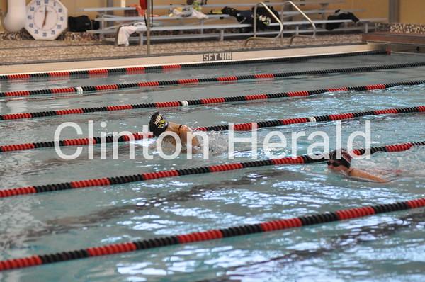 Clinton vs. Tipton girls swimming (8-28-14)