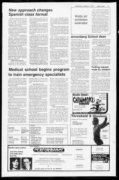 Daily Trojan, Vol. 65, No. 13, October 04, 1972