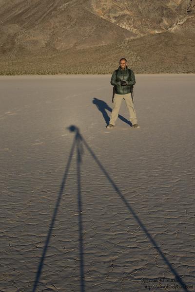 Vivek at the Racetrack Playa - Death Valley National Park, CA, USA