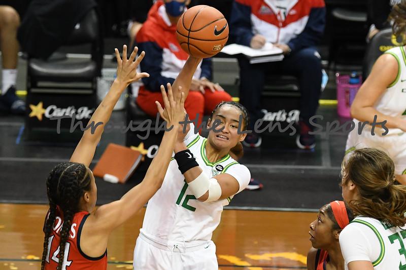 Arizona vs. Oregon Women's Basketball