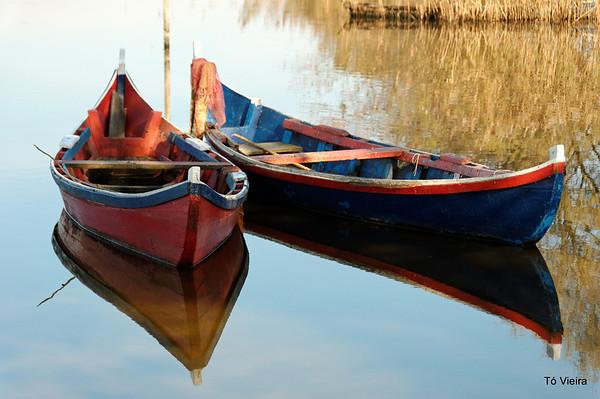 Os barcos da lagoa de Mira