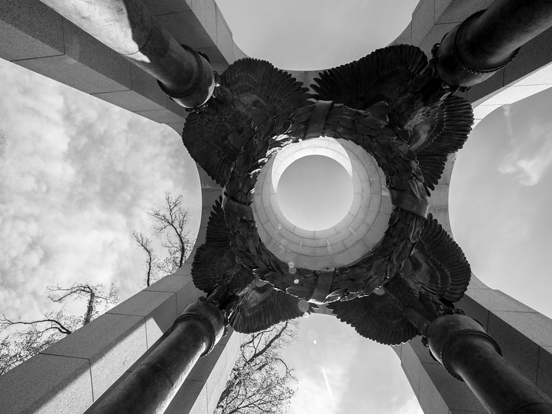 Upward View from the WWII Memorial