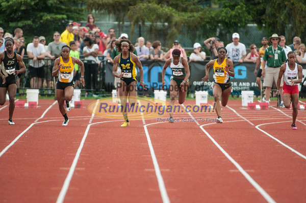 BIG10 100M Women Final - 2015 Big Ten Outdoor
