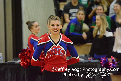 1-09-2016 Wootton HS Varsity Poms at Northwest HS, Photos by Jeffrey Vogt Photography with Kyle Hall