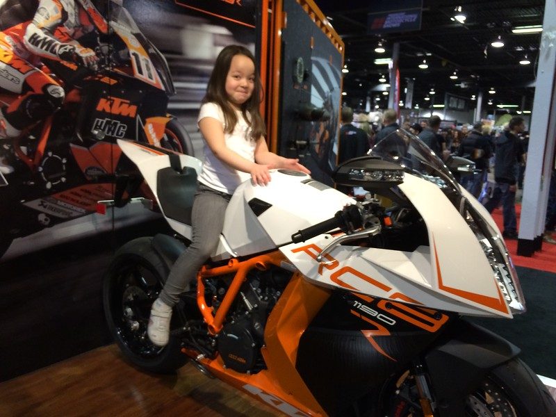Keira can tell how awesome the RC8R is