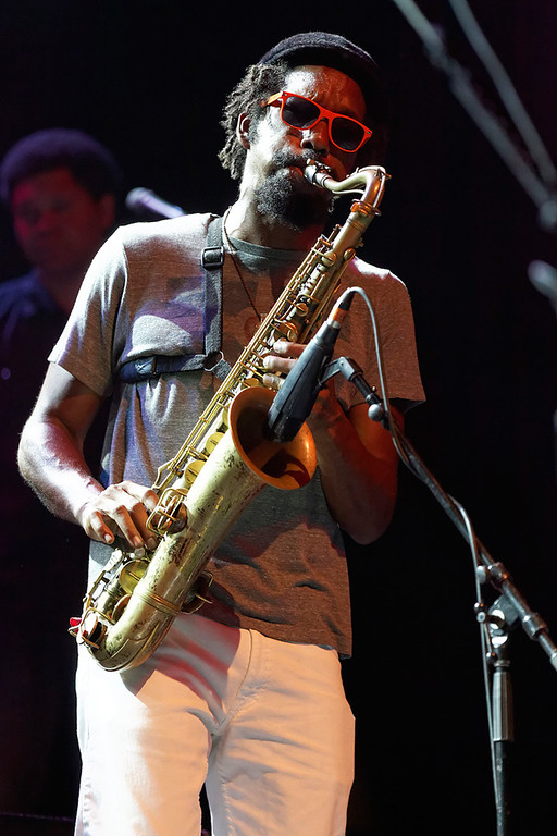 . Kebbi Williams of Tedeschi Trucks Band performs at Freedom Hill Amphitheatre on Tuesday, June 17. 