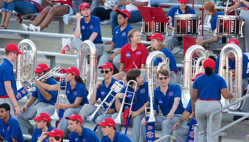... so is the nearby SMU band.