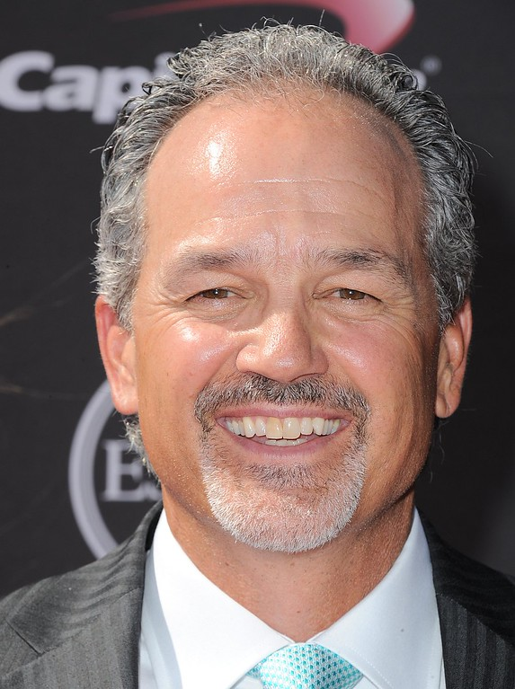 . Indianapolis Colts coach Chuck Pagano arrives at the ESPY Awards on Wednesday, July 17, 2013, at the Nokia Theater in Los Angeles. (Photo by Jordan Strauss/Invision/AP)