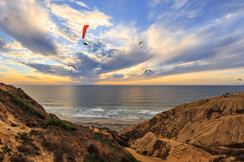 Torrey Pines Gliderport at Sunset