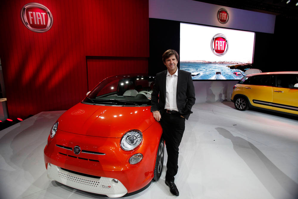 . Olivier Francois, chief marketing officer of Chrysler Group, poses for a portrait at the 2012 Los Angeles Auto Show in Los Angeles, California November 28, 2012.  REUTERS/Mario Anzuoni