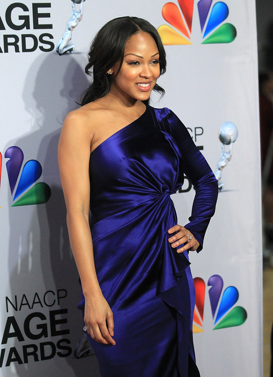 . LOS ANGELES, CA - FEBRUARY 01:  Actress Meagan Good poses in the press room during the 44th NAACP Image Awards at The Shrine Auditorium on February 1, 2013 in Los Angeles, California.  (Photo by Frederick M. Brown/Getty Images for NAACP Image Awards)