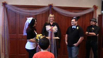 Kelly Officiates First Wedding