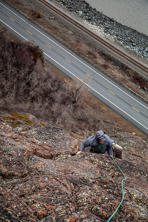 Climbing Sunshine Ridge with Jehon