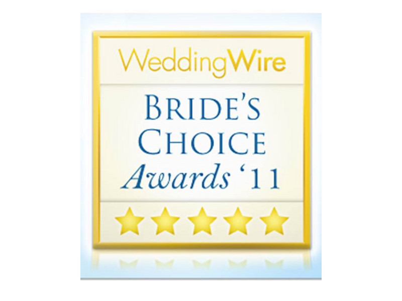 The WeddingWire Bride's Choice Awards ™ recognizes the top local wedding professionals from the WeddingWire Network that demonstrate excellence in quality, service, responsiveness and professionalism. Unlike other awards in which winners are selected by the organization, the WeddingWire Bride's Choice Awards™ are determined by recent reviews and extensive surveys from over 750,000 WeddingWire newlyweds. The 2011 award recipients represent the top five percent of WeddingWire's vendor community, which consists of over 200,000 local wedding professionals throughout the US and Canada.