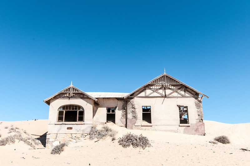 Abandoned buildings in Kolmanskopf in Luderitz, Namibia