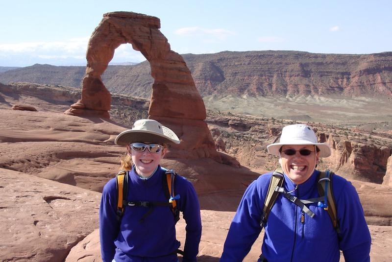 Suzanne and Mark at Arches Utah.