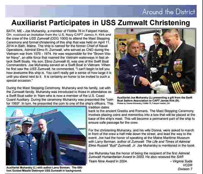 . Submitted <br> Christening of USS Zumwalt  DDG 1000 April 2014, Bath Maine.