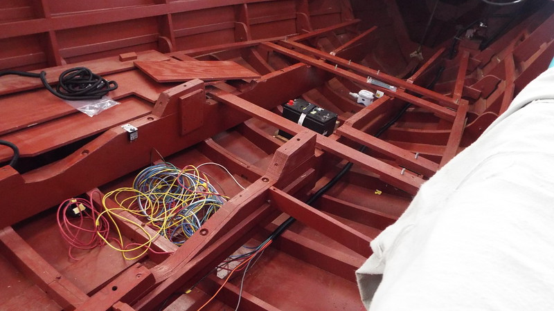 Cleaning up the wire harness and installing the wire loom.