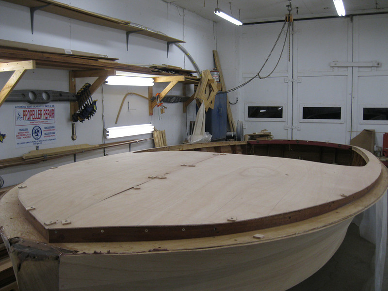Port front view of deck plywood fit.