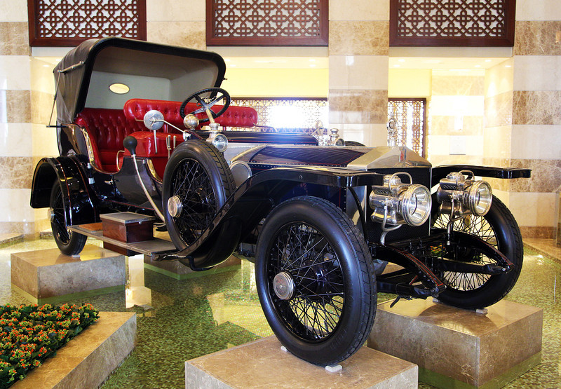 1911 Rolls Royce Silver Ghost on display in the St. Regis (Owned by Rolls Royce Motor Cars, Doha)