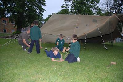 Rikki put up a 12 man tent