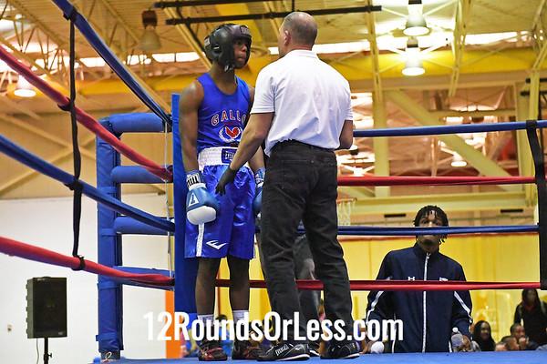 Bout #5: Dante Benjamin, Red Gloves, E. Cleveland -vs- Desmond Hodo, Blue Gloves, Gallo, MI 145 Lbs.
