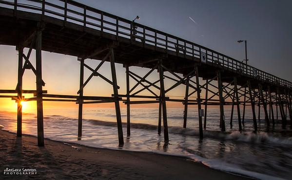 Sunrise at Yaupon Beach Fishing Pier - Oak Island, NC