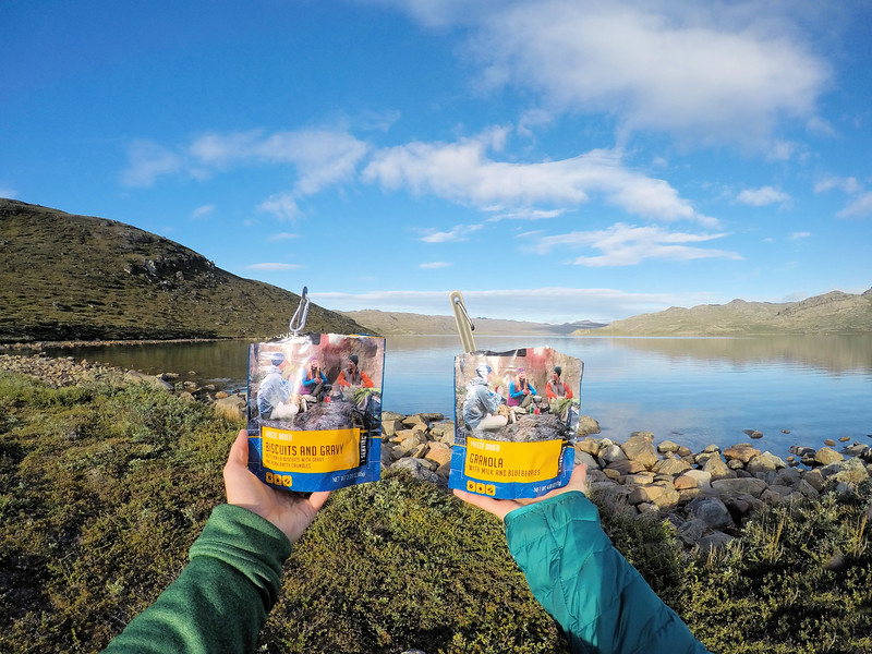Mountain House Meals on the trail in Greenland