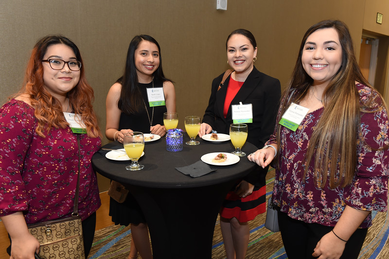 Recipients of various scholarships pose for a photo during the Endowed Scholarship Banquet held on February 20th in the University Center Anchor Ballrooms.