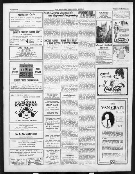 The Southern California Trojan, Vol. 15, No. 87, May 20, 1924