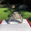 0.94ctw Vintage Old European Cut Diamond Dome Ring, Center OEC (GIA .59ct G SI2) 24