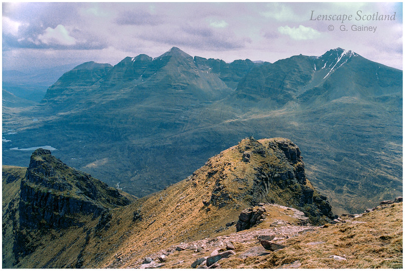 Liathach from Beinn Dearg (scanned from a 1996 slide)