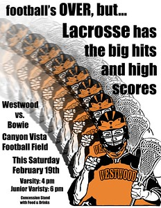 Westwood Lacrosse Game Posters