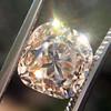 4.03ct Light Fancy Brown Antique Cushion Cut Diamond Halo Ring GIA LFB, SI1 59