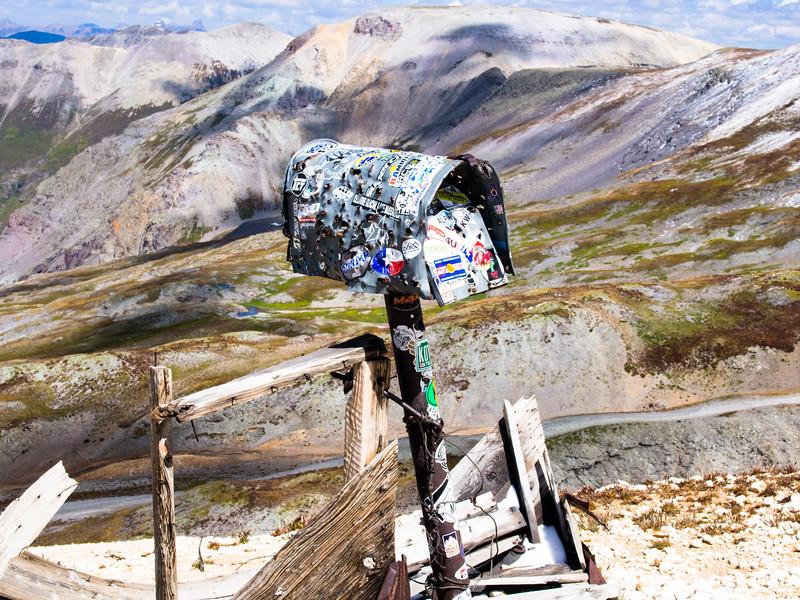 Mailbox at Imogene Pass