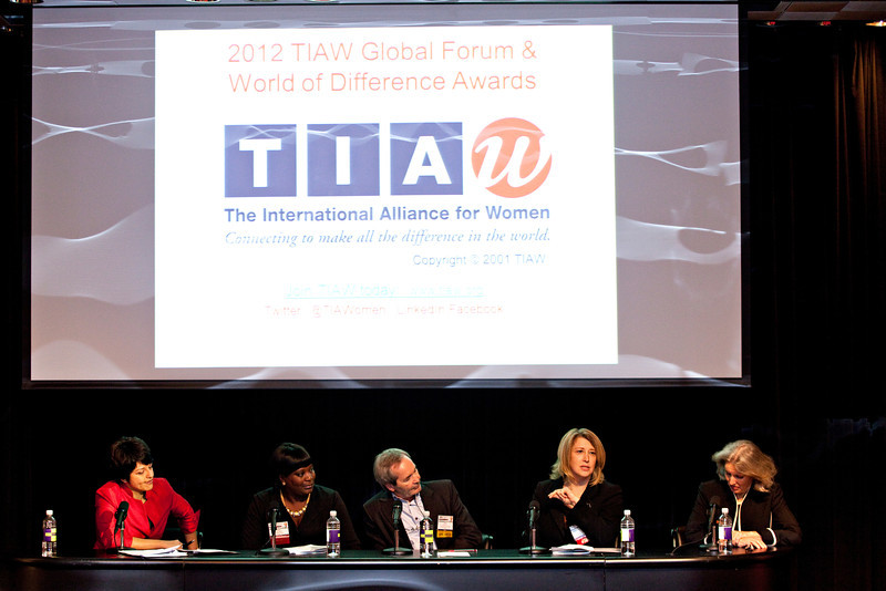 Conference program, TIAW Global Forum 2012. Shot 10/18/12