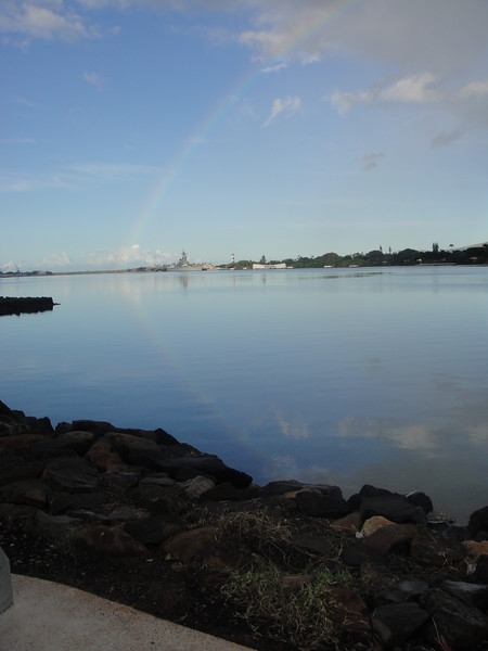 Rainbow Over The USS Arizona