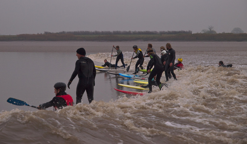 A bit busy at times as many enthusiasts ride the bore wave. All good fun mind.