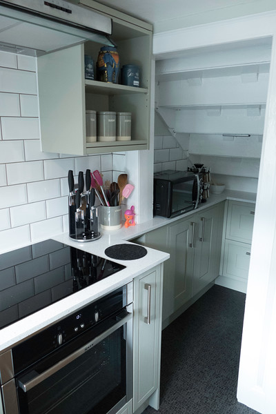 Small kitchen can still be practical and beautiful.
