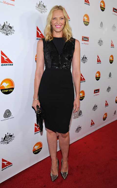 . Actress Toni Collette arrives at the 2013 G\'Day USA Los Angeles Black Tie Gala at JW Marriott Los Angeles at L.A. LIVE on January 12, 2013 in Los Angeles, California.  (Photo by John Sciulli/Getty Images for G\'Day Australia)
