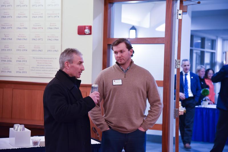 Headmaster Jim Detora P'12 and John Mori '05