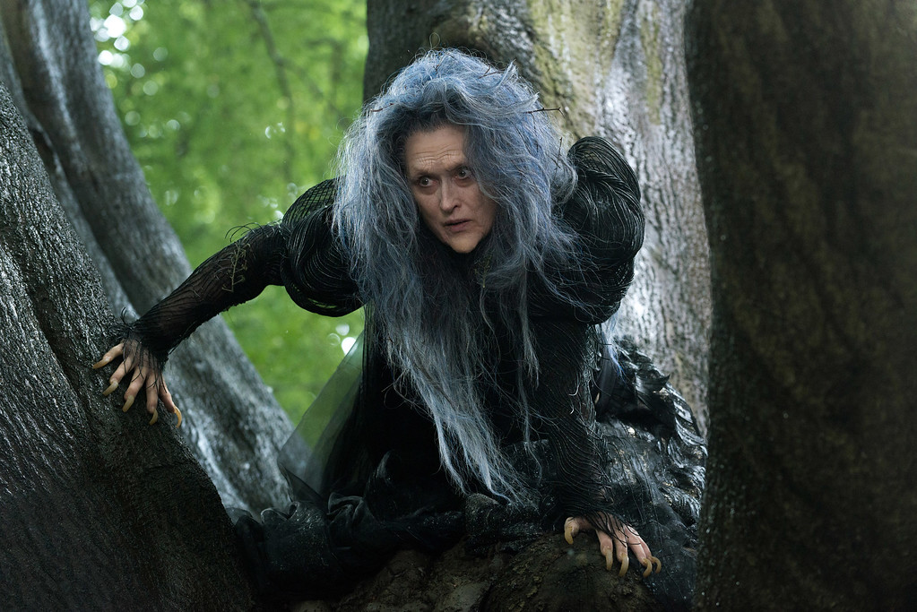 """. In this image released by Disney Enterprises, Inc., Meryl Streep appears in a scene from \""""Into the Woods.\"""" Streep was nominated for a Golden Globe for best supporting actress for her role in the film on Thursday, Dec. 11, 2014. The 72nd annual Golden Globe awards will air on NBC on Sunday, Jan. 11. (AP Photo/Disney Enterprises, Inc., Peter Mountain)"""