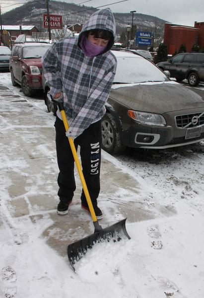 Shoveling Snow, Pine Street, Tamaqua (1-25-2014)