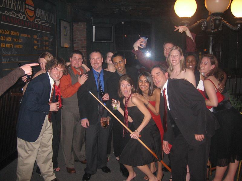 12/17/2006 - Christmas Party - Jon Deutsch, Kedric Griffin, Mark Langhorst, Ankit Mathur, Ellen Brooks, Ami Patel, James Walker, Charlotte Reed, Krissy Jones.